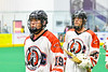 Onondaga Redhawks Wade Bucktooth (19) after a win over the Newtown Golden Eagles in a Can-Am Box Lacrosse game at the Onondaga Nation Arena near Nedrow, New York on Sunday, April 28, 2019.  Onondaga won 8-6.