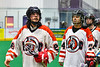 Onondaga Redhawks Colton Tarbell (26) after a win over the Newtown Golden Eagles in a Can-Am Box Lacrosse game at the Onondaga Nation Arena near Nedrow, New York on Sunday, April 28, 2019.  Onondaga won 8-6.