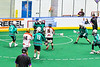 Onondaga Redhawks Cam Simpson (5) shoots and scores a goal against the Rochester River Monsters in Can-Am Box Lacrosse action at the Onondaga Nation Arena near Nedrow, New York on Friday, May 10, 2019. Onondaga won 18-4.
