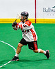 Onondaga Redhawks Cree Cathers (15) releases a shot at the Allegany Arrows net in Can-Am Box Lacrosse action at the Onondaga Nation Arena near Nedrow, New York on Saturday, May 25, 2019. Allegany won 12-8.
