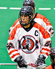 Onondaga Redhawks Captain Brett Bucktooth (66) before playing the Akwesasne Bucks in a Can-Am Box Lacrosse game at the Onondaga Nation Arena near Nedrow, New York on Friday, May 31, 2019.