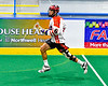 Onondaga Redhawks Colyn Lyons (6) running with the ball against the Akwesasne Bucks in Can-Am Box Lacrosse action at the Onondaga Nation Arena near Nedrow, New York on Friday, May 31, 2019. Akwesasne won 11-6.