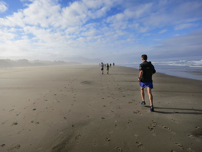 A few beautiful sunny miles of firm beach to run on.