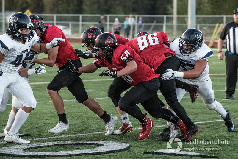 Orting Football Vs Cascade Christian 2017_26