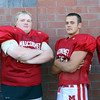 DAVID LE/Staff photo. Masco football senior captains for 2016 are Paul Baker, Tony Taggert, Sean Evaul, and Declan Judge. The Chieftans look to bounce back from a down year. 8/29/16.