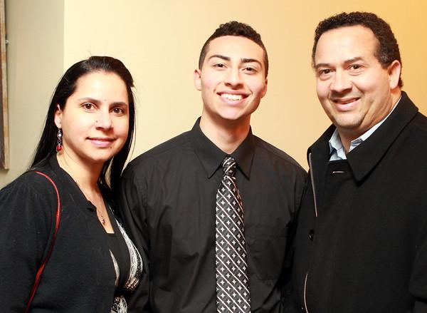 Salem: Salem News Student-Athlete nominee Emilio Beato and his parents Pedro and Nelsi, at the 51st Annual Salem News Student-Athlete Banquet. David Le/Salem News