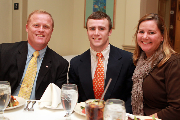 Salem: Salem News Student-Athlete nominee Brendan Flaherty with his parents Tim and Anne, at the 51st Annual Salem News Student-Athlete Banquet. David Le/Salem News