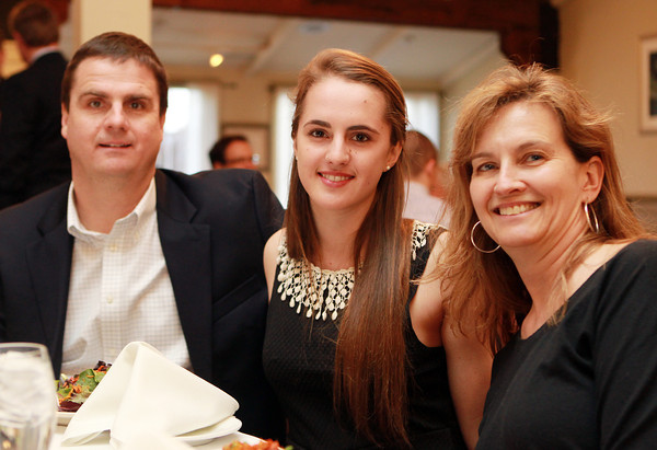 Salem: Salem News Student-Athlete nominee Carolyn Heslop and her parents Ann and Mark, at the 51st Annual Salem News Student-Athlete Banquet. David Le/Salem News