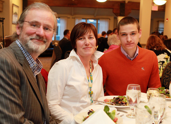 Salem: Salem News Student-Athlete nominee Peter Hale and his parents Sean Hale and Ingrid Pichler-Hale, at the 51st Annual Salem News Student-Athlete Banquet. David Le/Salem News
