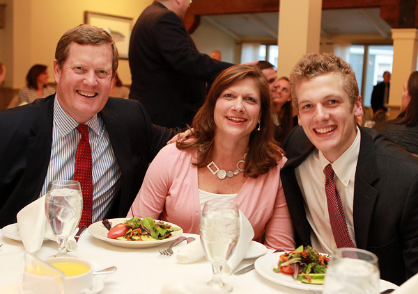 Salem: Salem News Student-Athlete nominee Ian Maag with his parents Tracy and Bill, at the 51st Annual Salem News Student-Athlete Banquet. David Le/Salem News