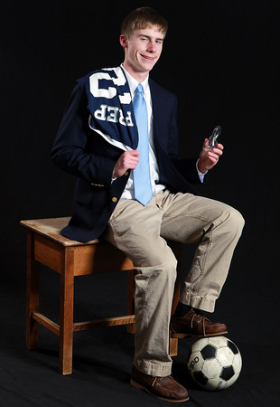 Salem News Student-Athlete Nominee Matthew Brady, St. John's Prep. Matthew played right back for the Eagles during their D1 Tournament run, and is a high jumper on the Prep's varsity track team. Brady enjoys Math and is looking to be a Physics major in college. David Le/Salem News