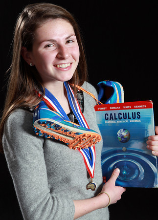 Salem News Student-Athlete Nominee Sarah Keiran, Ipswich High School. Keiran runs Cross Country and Indoor and Outdoor track for the Tigers and plays flute in the band. Keiran excels in Calculus and has won numerous medals for Tigers at CAL and State meets. David Le/Salem News