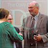 Matt Hamilton/The Daily Citizen<br /> Coach Johnny Farmer is inducted into the Coaches Hall of Fame Saturday at the Trade Center.