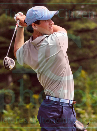 Matt Hamilton/The Daily Citizen<br /> UNC Bailey Patrick watches his tee shot on #6 Saturday.