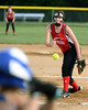 Harleysville's Melissa Peters pitches against Deep Run.<br /> Bob Raines--Montgomery Media