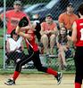 Harleysville's third baseman fields a short pop-up by Deep Run.<br /> Bob Raines--Montgomery Media