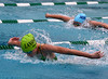 Bob Raines--Montgomery Media<br /> Kaelan Daly, Lansdale, leads in the first heat of the 12-and-under 50 meter butterfly June 25, 2015.