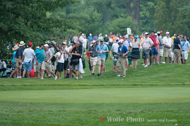 A gallery shot at the 2013 AT&T National Tournament .