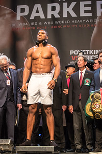 2018 Boxing Anthony Joshua v Joseph Parker Weigh In Mar 30th