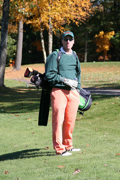 Mr Style himself ... lookin' good at the Pumpkin Classic.<br /> Are those pants really orange or is it just the late afternoon sun?