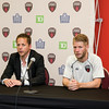 Marc Dos Santos, Fury FC Head Coach, and Richie Ryan, Fury FC Captain