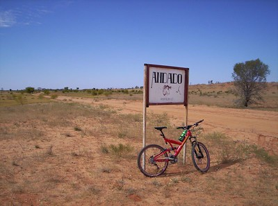 100km from the sign to the station