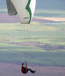 Paragliding off Waipoli Road, Kula, Maui. May 2012