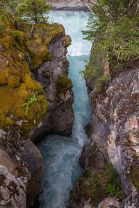 Downstream of the Natural Bridge.