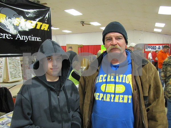 Bailey Vanroekle and Scott Groat attended the Sports Show at the Webster County Fairgrounds.