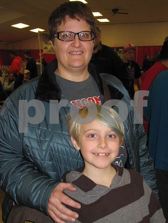 Trish Dohrn and son Alex attended the Sports Show at the Webster County Fairgrounds.