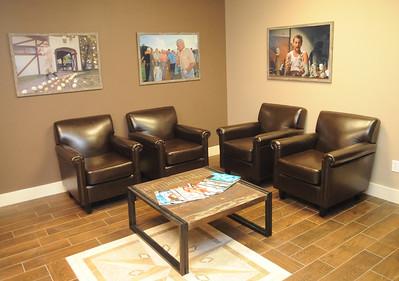 Lounge area at Tee It Up 365 in North Ridgeville, Feb. 11. STEVE MANHEIM/CHRONICLE