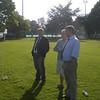 Coaching gurus Thomas and Wieliczko with club sponsor Ross Stuart