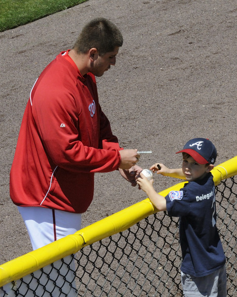 Autographs before the game.
