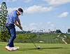 Keegan Bradley teeing off 18th during round 1 on Tuesday
