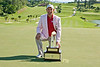 Padraig Harrington on 18th green with trophy and the pink jacket!!