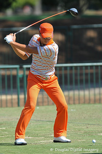 Ryo Ishikawa on the driving range during the practice rounds on Wednesday before the beginning of the PGA Championships at the Atlanta Athletic Club in Johns Creek, GA.