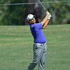 Matteo Manassero watches his shot head towards the green during the practice rounds on Wednesday before the beginning of the PGA Championships at the Atlanta Athletic Club in Johns Creek, GA.