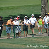 Fans watch the golfers during the practice rounds on Wednesday before the beginning of the PGA Championships at the Atlanta Athletic Club in Johns Creek, GA.