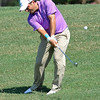 Francesco Molinari hits a shot during the practice rounds on Wednesday before the beginning of the PGA Championships at the Atlanta Athletic Club in Johns Creek, GA.