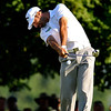 Alvaro Quiros tees off on Thursday during the first round of the PGA Championships at the Atlanta Athletic Club in Johns Creek, GA.