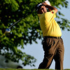 Angel Cabrera tees off on Thursday during the first round of the PGA Championships at the Atlanta Athletic Club in Johns Creek, GA.
