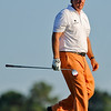 Phil Mickelson heads down the fairway after his tee shot on Thursday during the first round of the PGA Championships at the Atlanta Athletic Club in Johns Creek, GA.