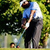 Vijay Singh tees off on Thursday during the first round of the PGA Championships at the Atlanta Athletic Club in Johns Creek, GA.