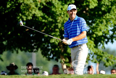 Padraig Harrington gets ready to tee off on Thursday during the first round of the PGA Championships at the Atlanta Athletic Club in Johns Creek, GA.