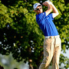 Ross Fisher tees off on Thursday during the first round of the PGA Championships at the Atlanta Athletic Club in Johns Creek, GA.