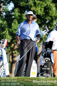 Vijay Singh gets ready to tee off on Thursday during the first round of the PGA Championships at the Atlanta Athletic Club in Johns Creek, GA.
