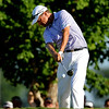 Davis Love III tees off on Thursday during the first round of the PGA Championships at the Atlanta Athletic Club in Johns Creek, GA.