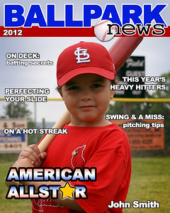 Sample Magazine Cover - Forward Image number and player name or nickname to custom order your image.  Check out fourth image in gallery to navigate to your image number!