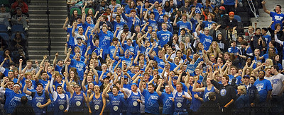 Hopkins Royals fans came to the state Class 4-A championship game ready to rock the house and watch their team win their third straight Class 4-A state championship 64-52 Saturday, Mar. 26, against Eden Prairie at Target Center in Minneapolis.