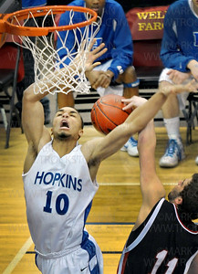 Hopkins senior forward Joe Coleman (10) works for an offensive rebound against the Eden Prairie defense during the Royals 64-52 Class 4-A championship victory over the Eagles Saturday, Mar. 26, at Target Center in Minneapolis.